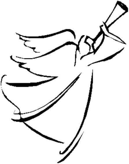 Angel Face Line Drawing : Angelanniemiller